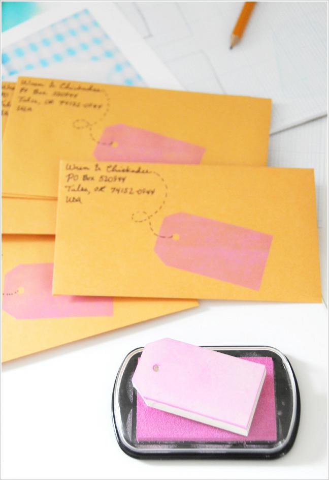 DIY Fun way to address envelopes