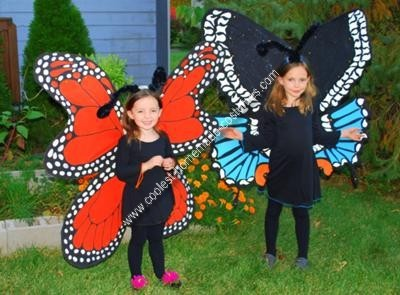 Homemade butterfly costumes
