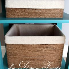 """Make """"Baskets"""" Out of Cardboard Boxes, Twine, & some glue…."""