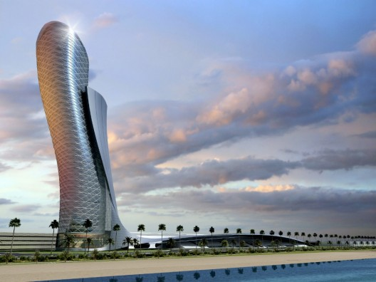 """Capital Gate by RMJM, """"Leaning Tower of Abu Dhabi"""""""