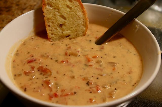 tomato-basil parmesan soup….for the crockpot.