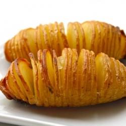 Swedish version of baked potatoes. (Hasselback  Potatoes)
