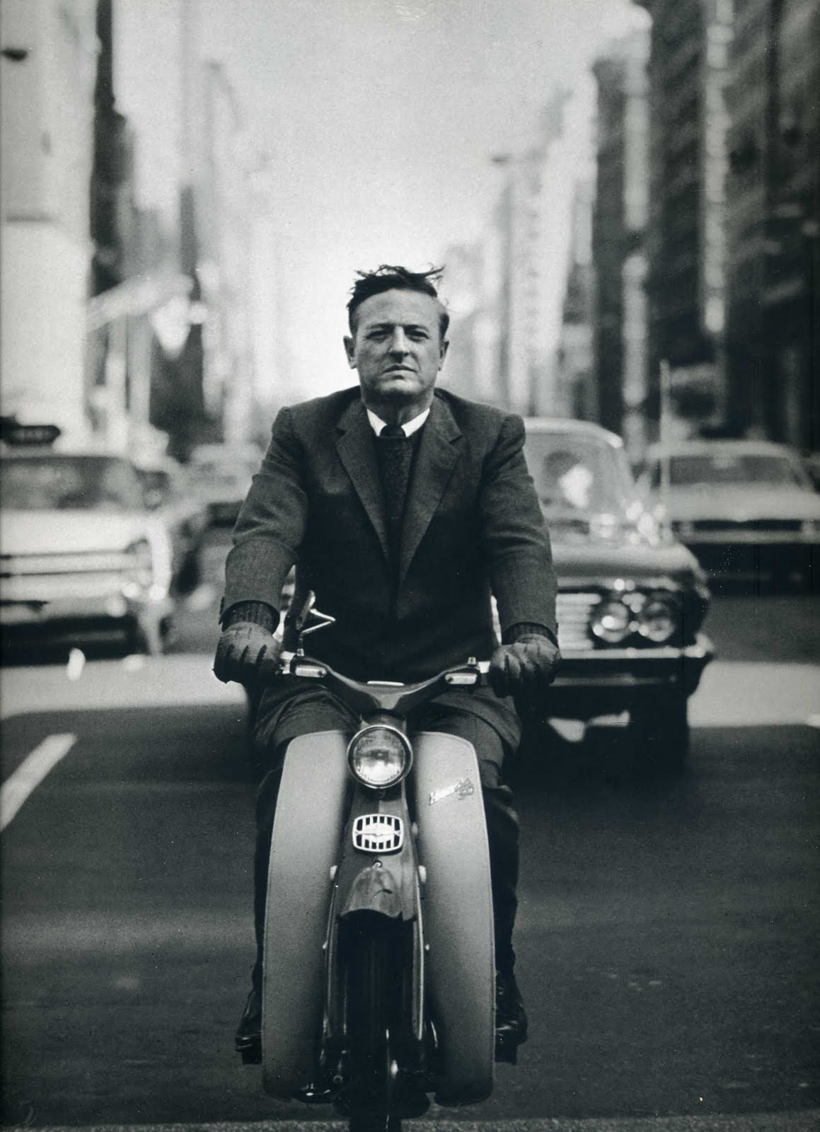 The Ivy League Look: Wm. F. Buckley, Jr., 1967 – without a helmet, because, why?