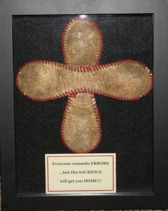 LOVE THIS for boys room!! Baseball Cross: Everyone commits ERRORS, but His SACRI