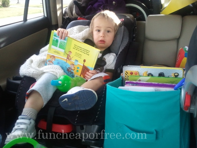 Tons of ideas for how to survive a road trip with kids. Some of these are sheer