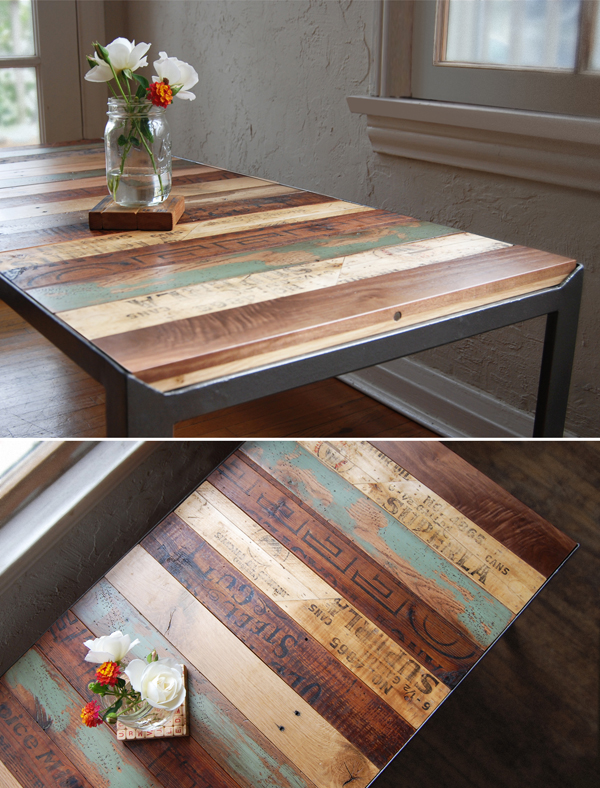 DIY:: recycled pallets – sanded & finished as a table!