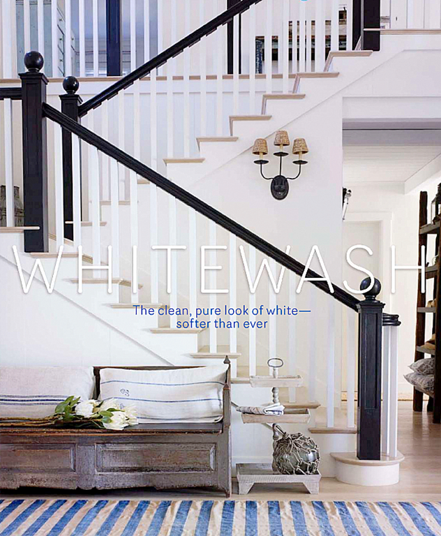 Looks simple – but full of details. Love the black painted railing with banister