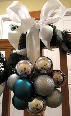 easy peasy decor using ball ornaments