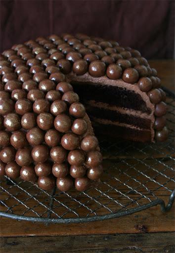 Chocolate Malt Ball Cake (Must Make for Dad's B-day)