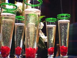 Christmas champagne.