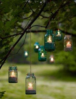 Wedding, Reception, Lanterns