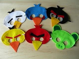 Angry Bird masks!!!