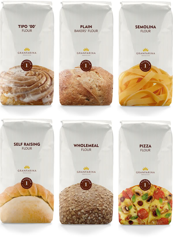 Simple and Clear Flour Packaging!