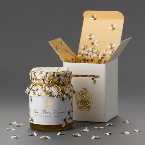 Honey packaging for Klein Constantia Farm