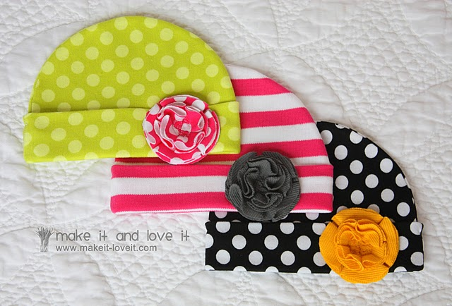 DIY baby girl hats