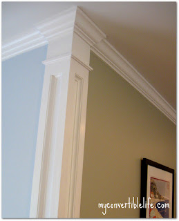 Corner molding – Beautiful way to separate your wall colors!
