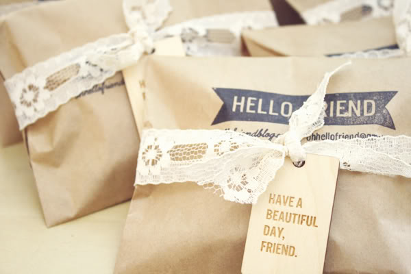 #packaging #brown paper #stamp #lace # tag