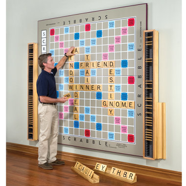 scrabble wall!  This would be BEYOND fun in a playroom!!!  I could see all the a
