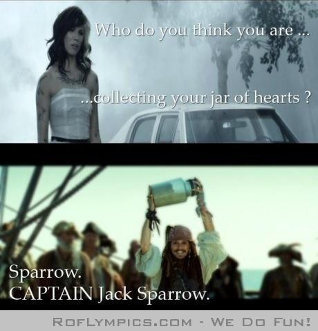 Jack Sparrow. CAPTAIN Jack Sparrow ;]