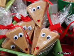 Peanut Butter Reindeer Fudge