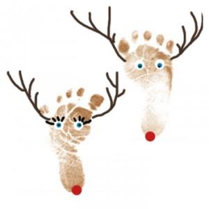Preschool Crafts for Kids*: Christmas Reindeer Footprint Craft