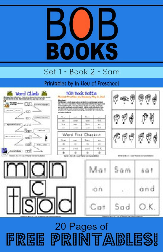 Have a beginning reader?  Here are FREE BOB Books Printables for Beginning Reade