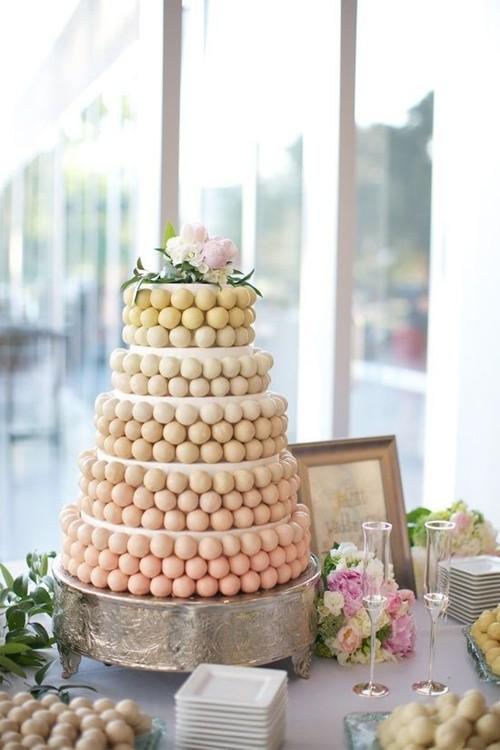 Wedding Cake Alternatives. Cake ball cake