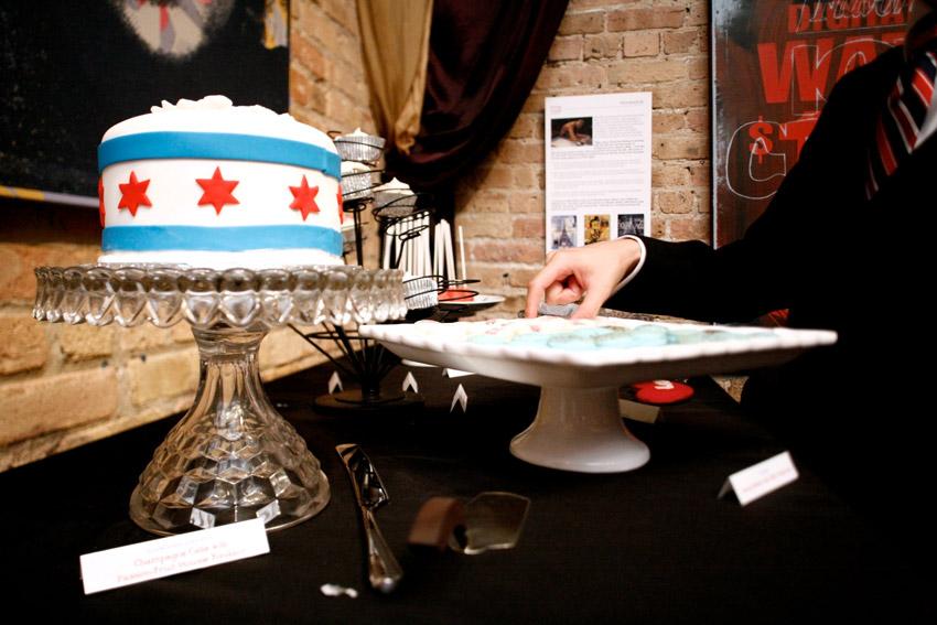 Love The Chicago Flag Wedding Cake