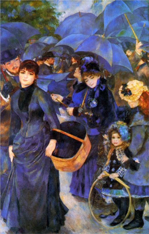 Umbrellas by Renoir