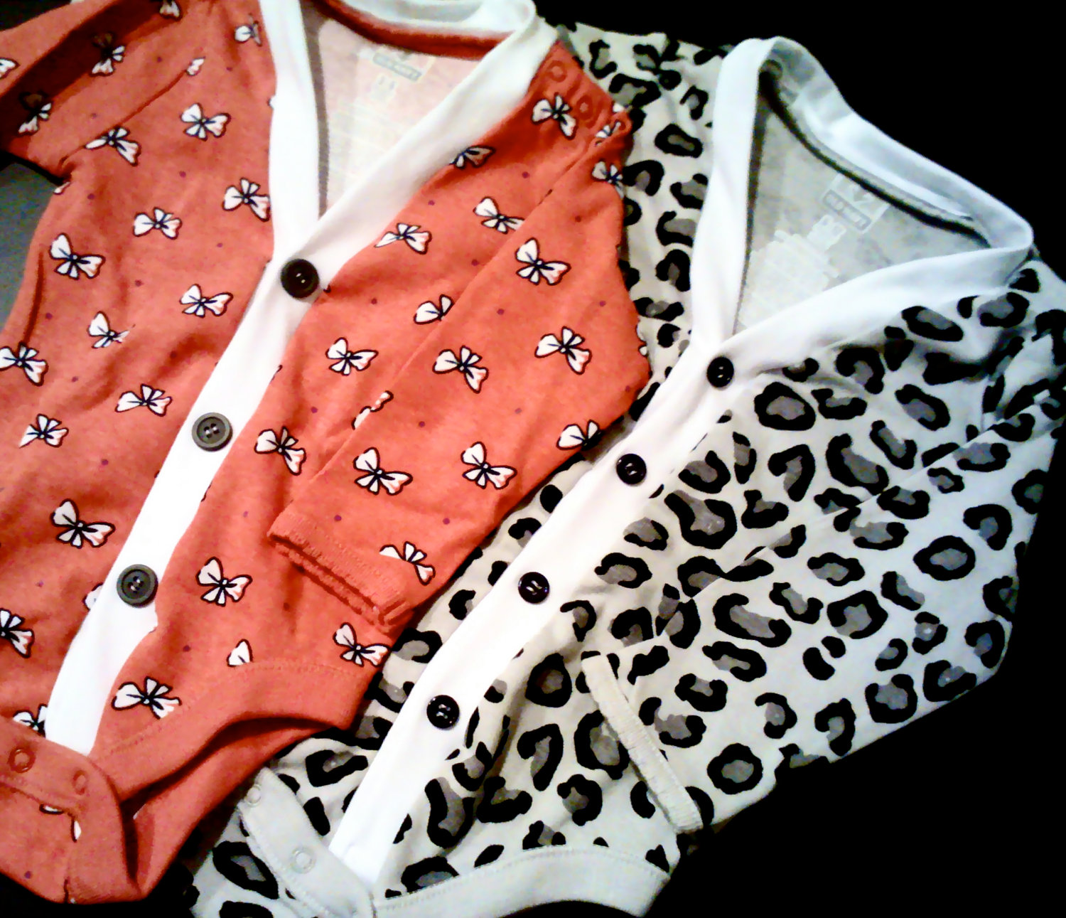 Baby Cardigan Onesie – Leopard Print Baby Girl Sweater – Perfect for a Fall or W