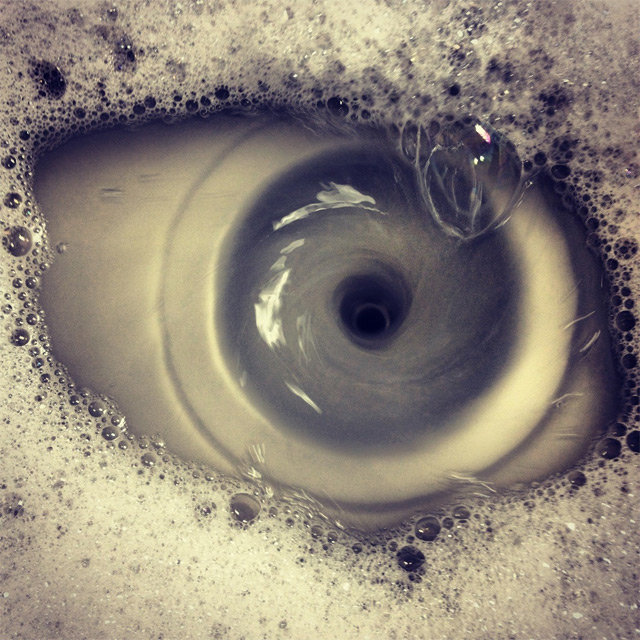 Photograph of a Draining Sink is Looking at You