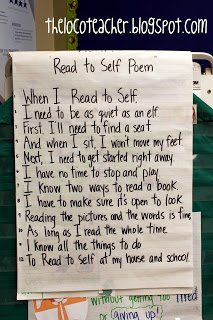 Classroom Freebies: Read to Self Poem