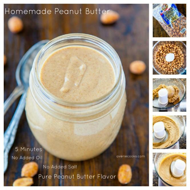 Homemade Peanut Butter in 5 minutes – No oil, no salt