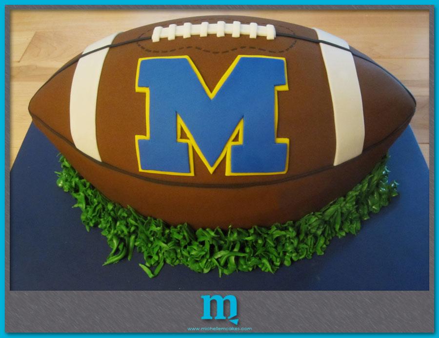 michigan football cake