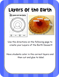 """""""Layers of the earth"""" pie (Week 13)"""