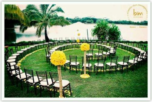 Garden wedding circle