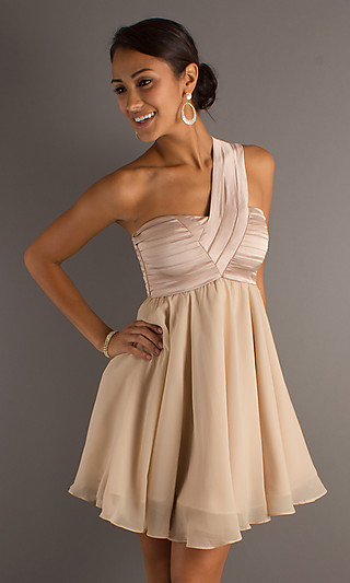 Short one shoulder dress- totally going to refashion a bridesmaids dress into th