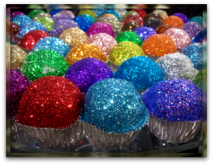 Edible Glitter Cupcakes! (By: The Smarty Party Blog)