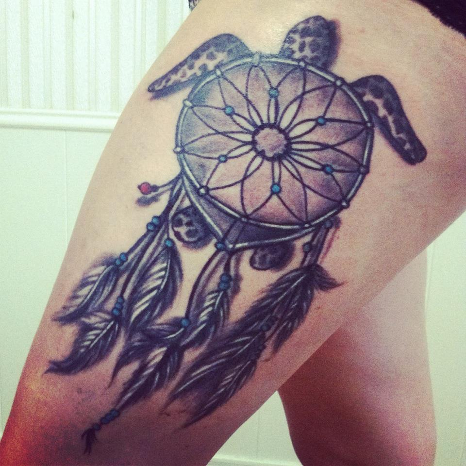 okay, everyone and their mothers have these ginat dream catcher tattoos but this