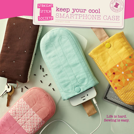 Keep Your Cool Smartphone Case sewing pattern: from the folks behind Oliver + S