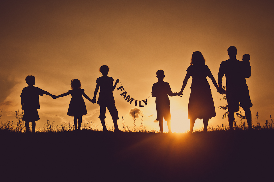Family Silhouette Photos