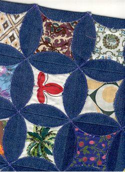Denim circle quilt