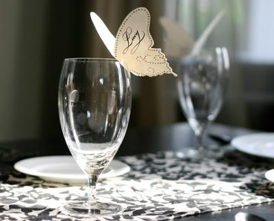 vintage wedding theme, butterfly theme wedding ideas, butterfly place card