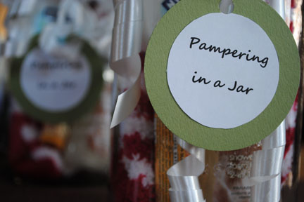 Pampering Gift in a jar