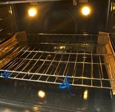 The best oven cleaner! Cover bottom of oven with baking soda, then pour vinegar