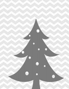 Chevron Christmas Printable