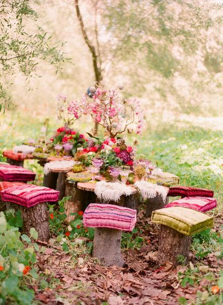 #bohemian #gypsy #life #table #food #pillow #nature #pink