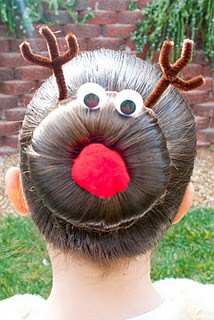 I just might need to wear my hair like this the day before Holiday Break.  I am
