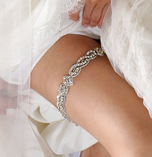 Sparkle Garter instead of the usual blue and white lace combi