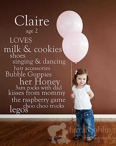 Take a picture of your kids each year and make a list of what they enjoy at that